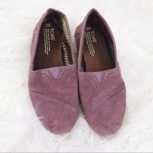 Purple Corduroy TOMS